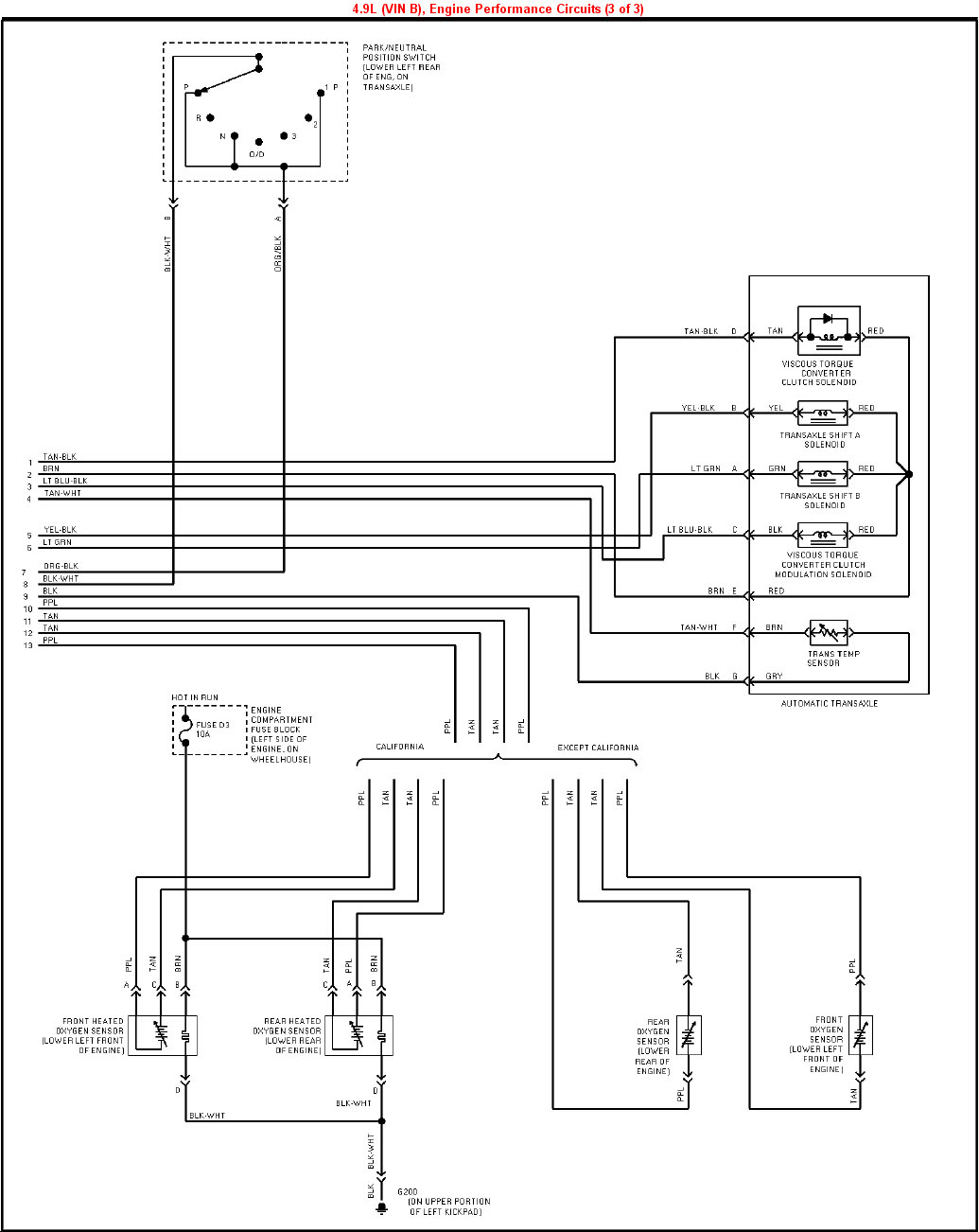 1995 Cadillac Deville 4.9L VIN B PCM (3 of 3) index of gearhead efi wiring 92 cadillac deville fuse box diagram at reclaimingppi.co